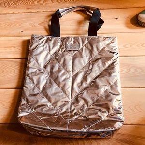 Victorias Secret Metallic Tote bag Metallic Gold